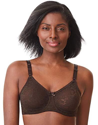 Bali Women's N Smooth Stretch Lace Underwire Bra DF3432, Warm Cocoa Brown, 38B