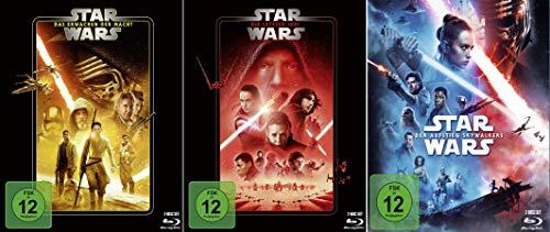 Star Wars Paket - Das Erwachen der Macht (7) + Die letzten Jedi (8) + Der Aufstieg Skywalkers (9) [6-Blu-ray]