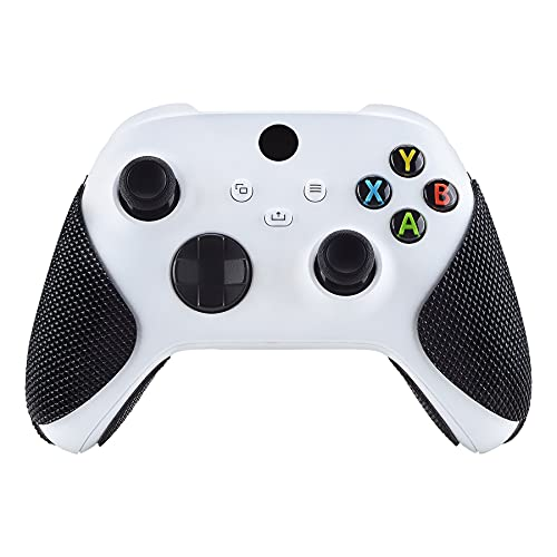 eXtremeRate PlayVital Pegatina para Xbox Series X S Aadhesivo de Silicona Antideslizante Piel de Goma para Control de Xbox Series X/S Pegatina de Agarre para Mando XB Series X/S(Grano de Diamante)