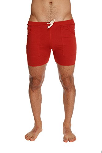 4-rth Mens Transition Yoga Shorts (X-Large, Solid Cinnabar (red))