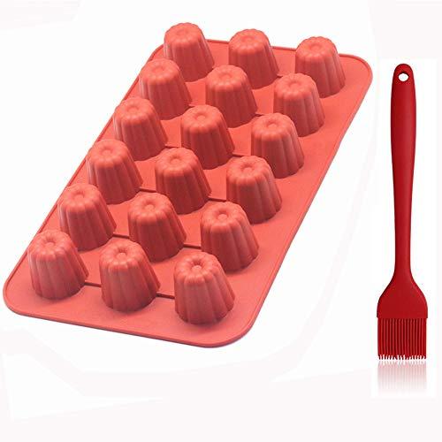 Gel de sílice 18 Hole Round Muffin Cup jabon artesanal de Chocolate...