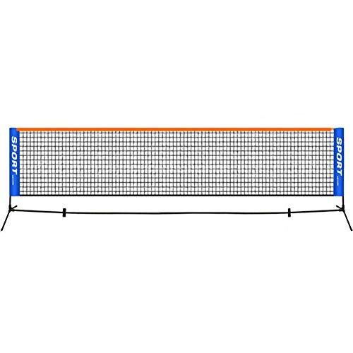GYKLY Tennisnetze Standard tragbare, einfach zusammenklappbare, bewegliche Tennis-Badmintonnetze für drinnen und draußen - 6,1 m