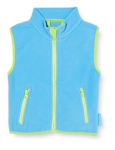 Playshoes Kinder Fleeceweste farbig abgesetzt Weste, Blau (aquablau 23), 116