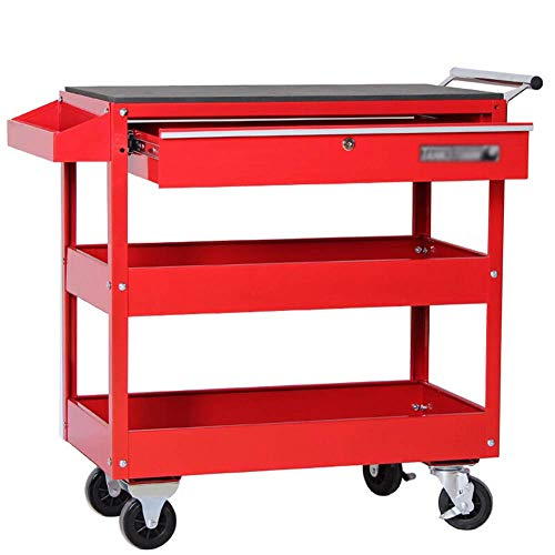 HXCD 3-Tier Tool Trolley Cart Lagerregal...
