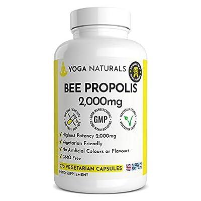 270 Bee Propolis Capsules Vegetarian, Bee Health Immune Booster UK Manufactured Bees Propolis Propoli Pure Propolis