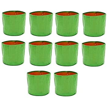 """COIR GARDEN Terrace Gardening HDPE Grow Bags for Vegetable, Flower Plants (12""""x12"""" Inches) - [30cms(L) X 30cms(H)] (200 GSM) - Pack of 10"""