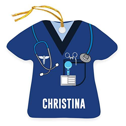 ChalkTalkSPORTS Profession Ornament | Medical Services | Nurse Scrubs | Navy