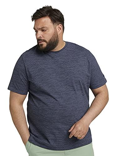 TOM TAILOR Men+ 1027866 Plussize Camiseta sin Mangas, 13804 Sailor Blue Melangé, 4XL para Hombre