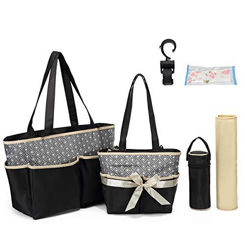 Henkeltaschen Wickeltasche, Wickeltasche, Reisetasche, Windeltasche für Mama Grils Unisex Mutterschaft, Windeltasche, Reisetasche mit mehreren Taschen groß (Beige)