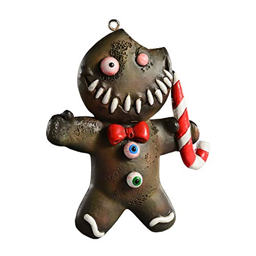 HorrorNaments Ginger Dead Man Horror Ornament - Scary Prop and Decoration for Halloween, Christmas, Parties and Events