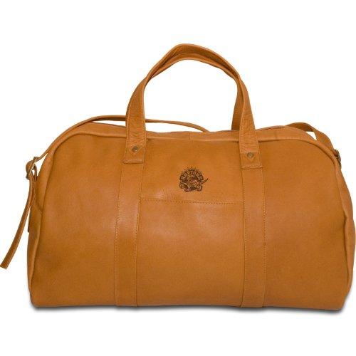 NBA Toronto Raptors Tan Leather Corey Duffel Bag