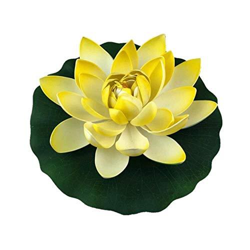 Aomerrt Valse Kunstmatige waterlelie Lotus Bloem Drijvend Zwembad Tuin Ornament Plant Decoratie Sculptuur Tuin Voor Thuis