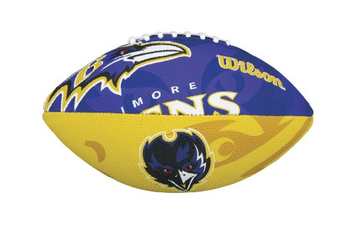 WILSON Football mit dem Logo des NFL Junior Teams, WTF1534IDBA, Baltimore Ravens, Für Kinder