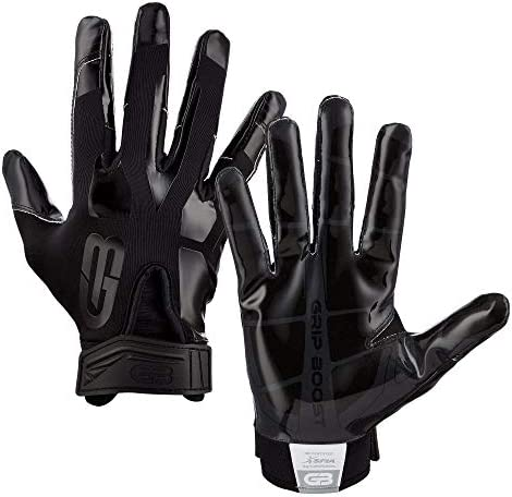 Grip Boost Stealth Solid Color Football Gloves Pro Elite Adult Sizes Black Adult Small product image