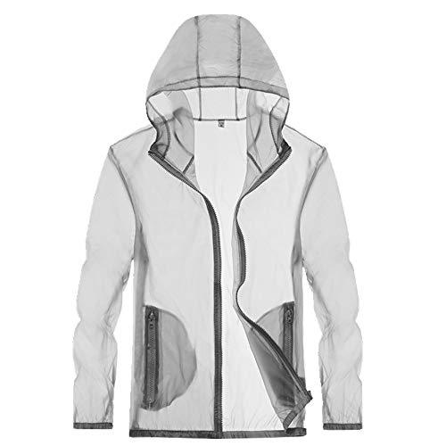 Sun Proof Clothing Damen Outdoor Sonnenschutz Kleidung Mantel Leicht und Atmungsaktiv Mann Gr. XXXX-Large, grau