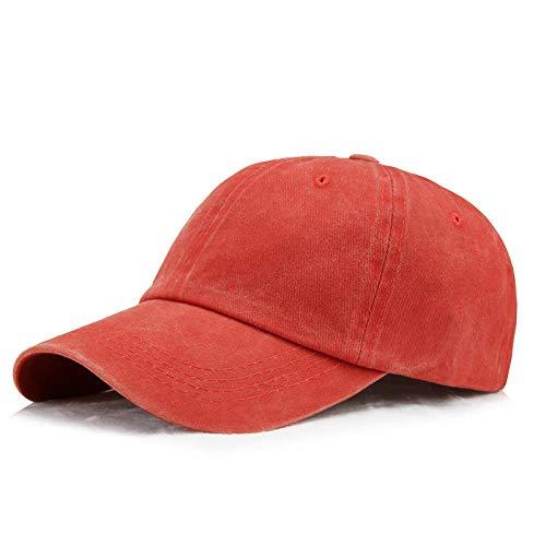 TAOLILI Gorras De Hombre Sombreros de papá para Hombre, Gorra de béisbol Ajustable de Seis Paneles de algodón Lavado para Mujer