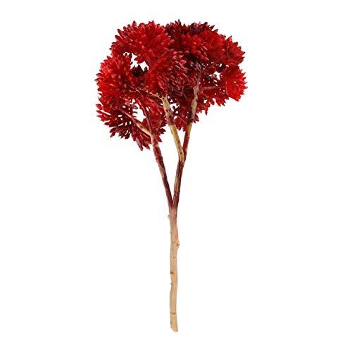 ZCMTD Künstliche Bunte Weichkleber Reissamen Mini Gefälschte Frucht Hochzeit Dekor Blumen Sukkulente Pflanze Bonsai Home Decor Brown