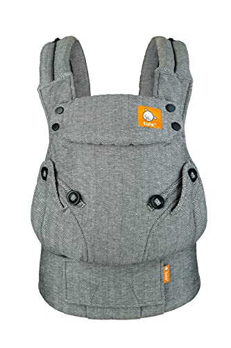 Baby Tula Explore Baby Carrier 7- 45 LB, Adjustable Newborn to Toddler Carrier, Multiple Ergonomic Positions, Front and Back Carry, Easy to Use, Lightweight - Linen Ash (Soft Charcoal Grey)