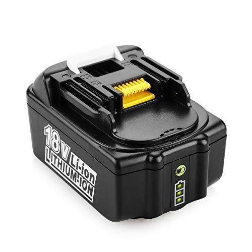 ENERGUP 18V 5,0Ah Li-ion Ersatz Akku für Makita 18V BL1850B BL1860 BL1850 BL1840 BL1830 BL1820 BL1020B BL1815 197280-8 Werkzeugakkus - mit LED Indikator