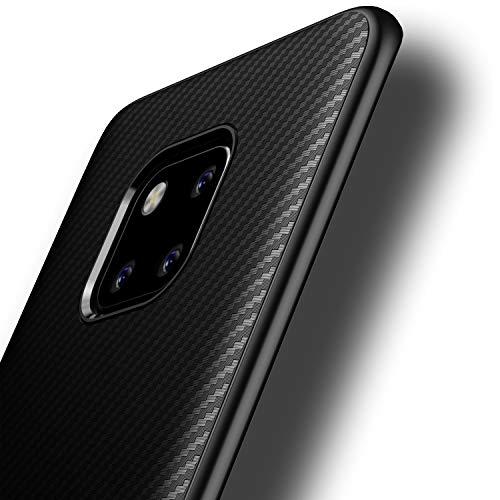 Losvick Cover per Huawei Mate 20 PRO, Ultra-Sottile TPU Silicone Morbida Custodia Fibra di Carbonio Anti-graffio Anti-Scivolo Antiurto Protettiva Bumper Case per Huawei Mate 20 PRO - Nero