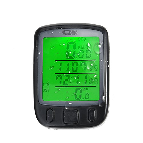 SXTSPO Odómetro de Bicicleta Digital Impermeable Computadora Odómetro del Velocímetro Reloj Cronómetro...