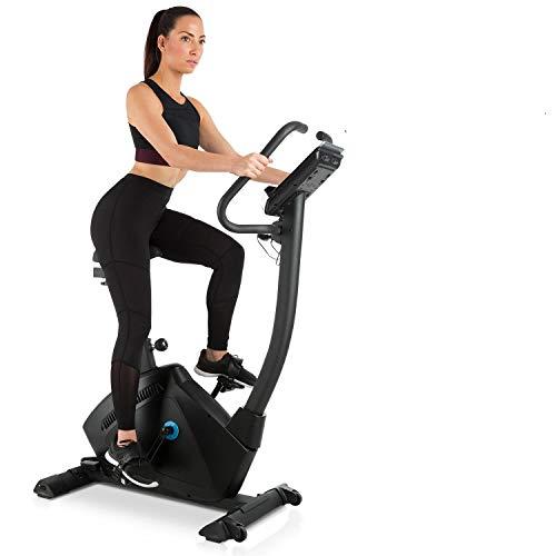 CAPITAL SPORTS Evo Track Bicicleta - Bicicleta de fitness con ordenador , Bici estática , Bluetooth , 32 niveles , Aplicación , Volante de inercia de 15 kg , Soporte para tablet , Pulsómetro , Negro