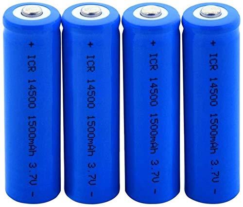 Baterías Recargables ICR 14500 3.7V 1500mAh en Punta Superior Batería de Litio para Cargar la celda de Iones de Litio 2pcs-4 Piezas