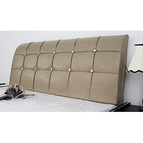 Hoofdkussen voor bed, hoofdeinde, hoogwaardig, PU-kunstleer, nachtkastje, leeskussen, sofa, bed, bureaustoel, rustkussen 120*60*8cm J