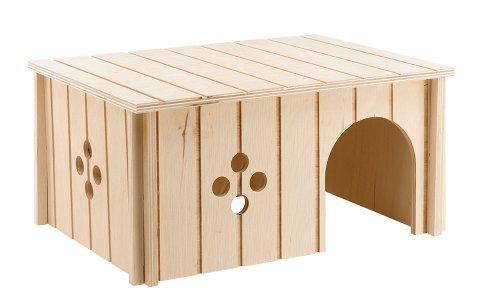 Ferplast 84646099casa in legno per conigli sin 4646dimensione ca. 33 x 23,6 x 16 cm