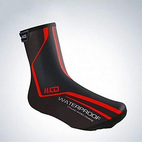 Couvre-chaussures de cyclisme PU Fluff Coupe-vent imperméable Couvre-chaussures hiver chaud tissu Mountain Bike Riding Couvre-chaussures hiver coupe-vent protection chaude Protecteur de vélo