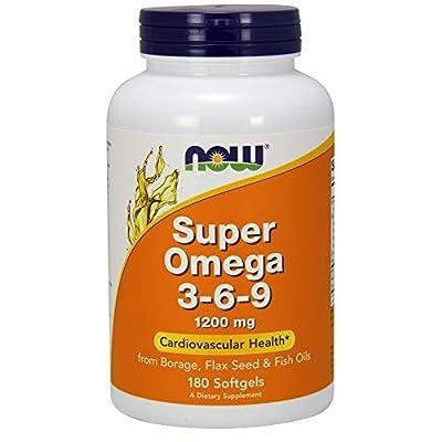 Now Foods Super Omega 3-6-9 1200 mg | Cardiovascular Health | 180 Softgels