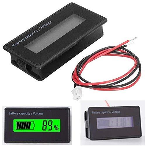 L-YINGZON Los módulos de la batería de litio 3pcs GY-6H Y6H 12V 24V 36V 48V Batería de plomo ácido 2-15S ajustable 6-75V universal impermeable pantalla verde Capacidad Pantalla LCD Tarjeta de indicaci