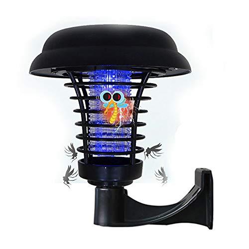 funfunfly Solar Insektenvernichter LED Gartenlicht Elektrischer Moskito Killer UV Insektenfalle Mückenlampe Wasserdicht IP67 Solar Gartenlampe Mückenfalle Fliegenfalle Verwendung im Freien