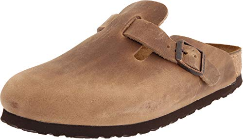 BIRKENSTOCK Boston - Oiled Leather (Unisex) Tobacco Oiled Leather 42 (US Men's 9-9.5, US Women's 11-11.5)