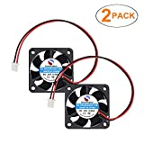 SoundOriginal 2pcs Brushless DC Cooling Fan 24V 0.06A 40mm x 40mm x10mm Speed 6800 RPM Fans for 3D Printer Humidifier Aromatherapy and Other Small Appliances Series Repair Replacement (Black 24V)