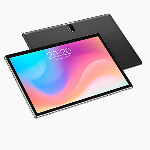 Tablet 10 Inch,Android 10,Octa Core,64GB Rom,4GB Ram, 4G LTE, HD, WiFi, GPS, Dual Sim Card, Tablets,Tempered glass screen 1080P (Black)