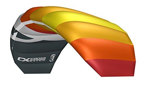 Crosskites Lenkmatte für ambitionierte Kiter Air 1.5 Red-Yellow R2F Lenkdrachen 2-Leiner Kite Kinderdrachen Stranddrachen