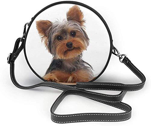 Just Relax Shop Handtasche Yorkshire Terrier Welpen, rund, PU-Leder, siehe abbildung - Größe: Einheitsgröße