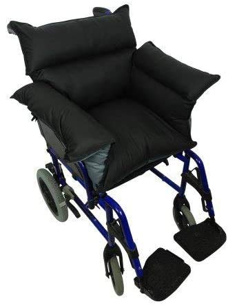 Queraltó - Cubresilla acolchado Saniluxe T/L para silla de ruedas   Cubre silla de ruedas reversible   Relleno de fibra   Impermeable, transpirable e ignífugo 🔥