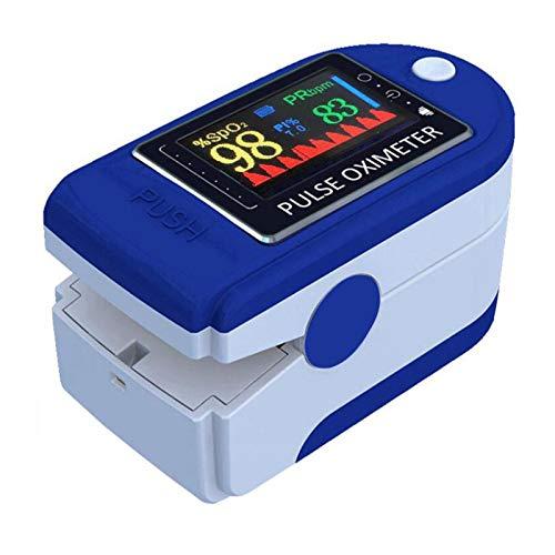 Oppal Saturimetro da Dito Professionale, Sensore Digitale di Ossigeno nel Sangue e Pulsazioni, con Allarme SPO2, per Uso Domestico, Fitness e Sport Estrem