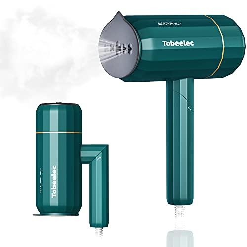 Tobeelec Reise Dampfglätter mit Zusammenklappbarer Griff 1200W Dampfbürste 20s Schnell Erwärmung, Steamer Dampfbügeleisen Kleidung Wrinkle, mit 140 ml Wassertank für Alltag und Reise