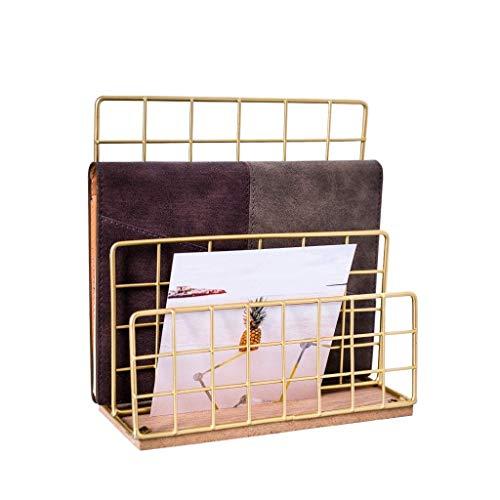 HJSCD Dekoratives Regal zum Aufhängen im Wohnzimmer im nordischen Stil, schmiedeeisernes Bücherregal, Schlichter und moderner Schreibtisch