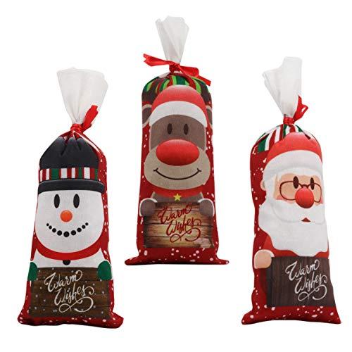 HEALLILY 3 Pezzi Copri Bottiglia di Vino Decorazione Santa Pupazzo di Neve Renna Bottiglia di Champagne Borse Maniche Maglione Natale Decorazione della Tavola del Partito di Casa