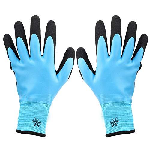 Guantes de trabajo resistentes al frío, antideslizantes impermeables antideslizantes, protección contra el frío anticorte de 3 niveles a -30 ℃, para almacenamiento en frío(9)