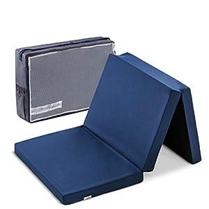 Hauck Sleeper 60 x 120 cm, colchón de espuma 6cm de grosor, para cunas de viaje, plegable en 3 partes, incluida bolsa de…