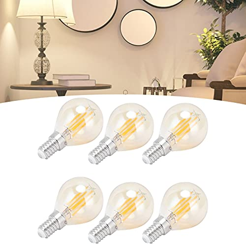 Snufeve6 Bombilla LED, Bombilla G45 220-240V Iluminación Interior Vintage 6PCS para el hogar para la Oficina para el Dormitorio