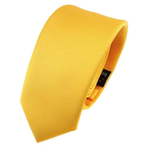 TigerTie - corbata estrecha - amarillo maíz-amarillo monocromo