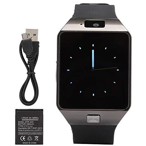 Tarente DZ09 Plug-in-Speicherkarte Touchscreen-GSM-Kamera Bluetooth Smart Phone Watch (Black)