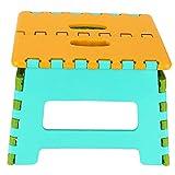 Gonnely Taburete de Escalera Plegable de plástico con escalón Plegable Silla pequeña portátil Silla de Zapatos de Engrosamiento(Amarillo)