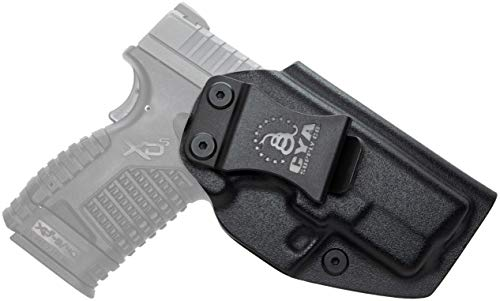 CYA Supply Co. Fits Springfield XD-S 3.3' & XD-S MOD.2 3.3' Inside Waistband Holster Concealed Carry IWB Veteran Owned Company (Black, 074- Springfield XD-S 3.3' & XD-S MOD.2 3.3')